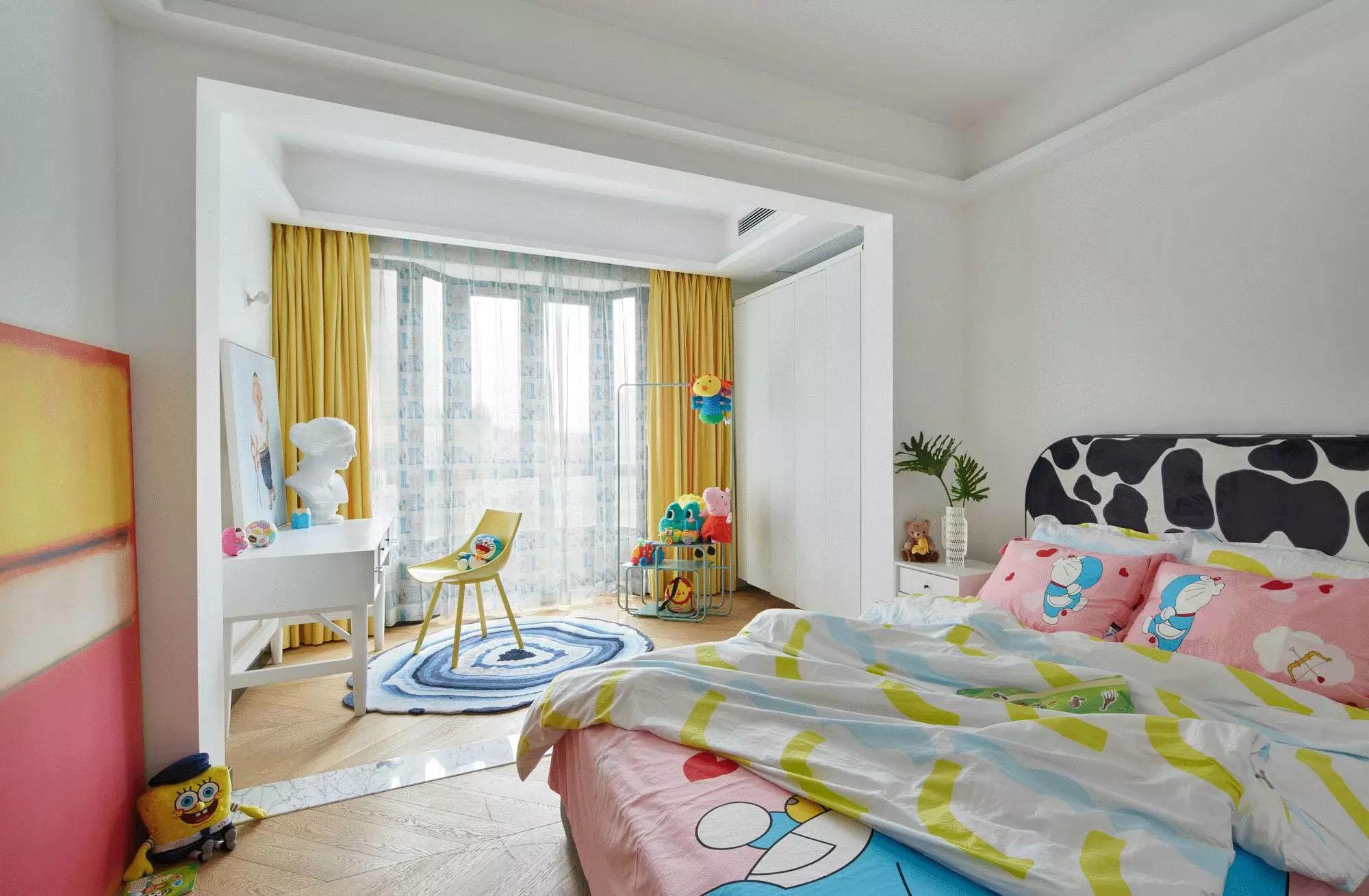 现代极简风别墅儿童房装修效果图