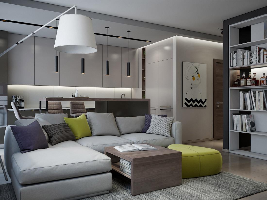 现代公寓装修沙发设计效果图