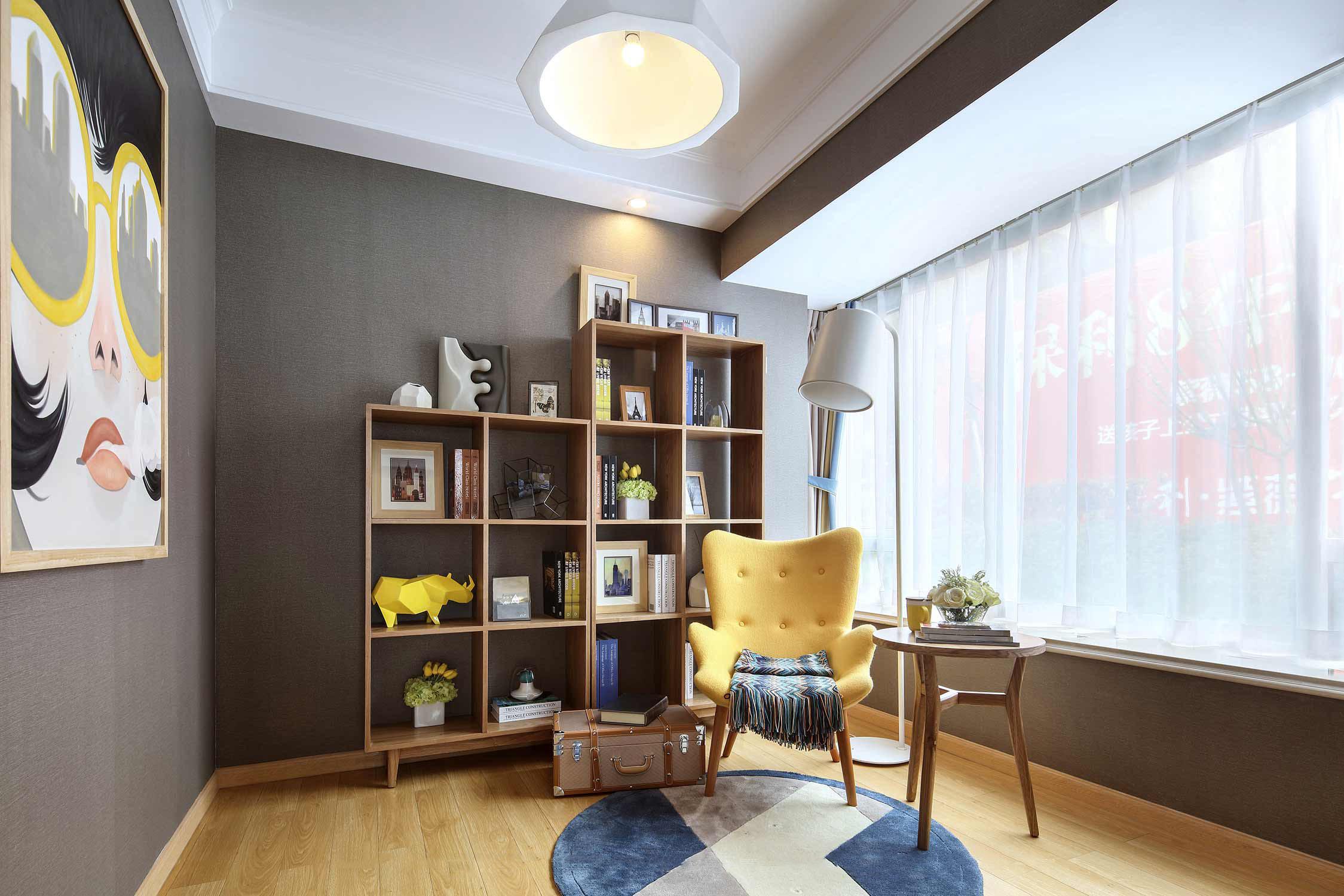 二居室现代简约书房装修效果图