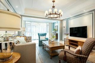 145平美式风格客厅每日首存送20