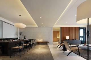 大户型简约现代样板间餐厅装修效果图