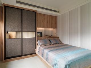 现代混搭风四房卧室装修设计图