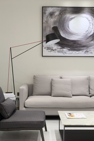 大户型复式极简风装修沙发设计图
