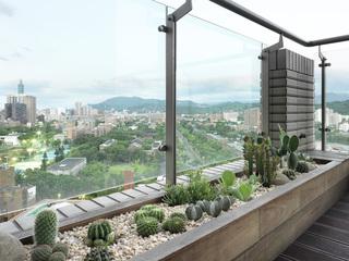大户型现代风格装修露台绿植小景