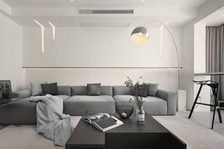 110㎡极简风格沙发背景墙装修效果图