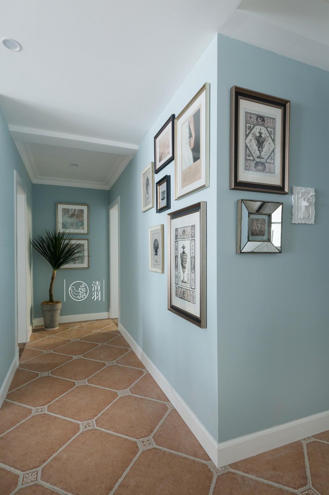 150㎡美式四居室走廊装修效果图