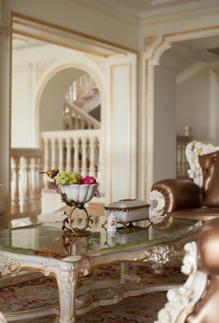 法式豪华别墅装修茶几设计图