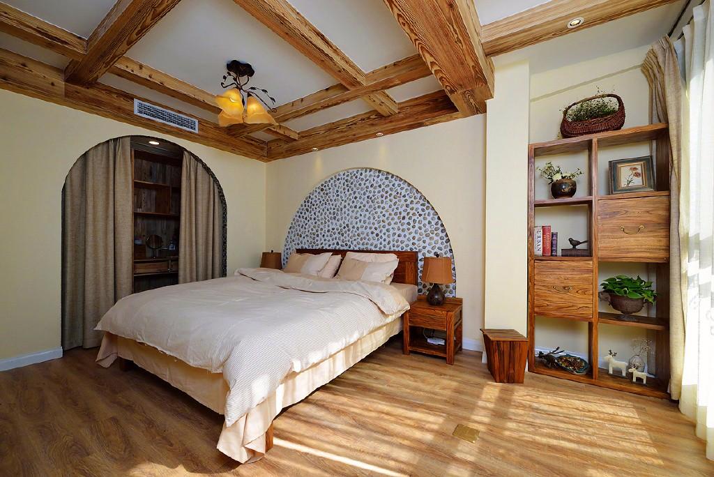 二居室美式乡村风格卧室装修效果图