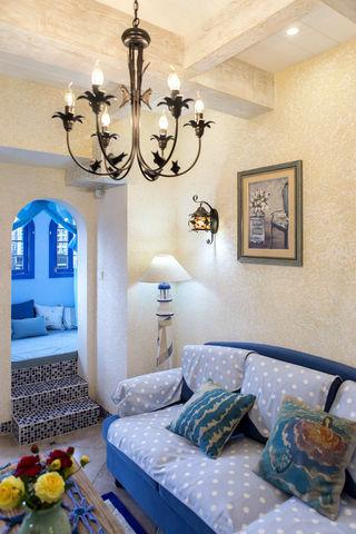 65㎡地中海风格装修沙发设计图