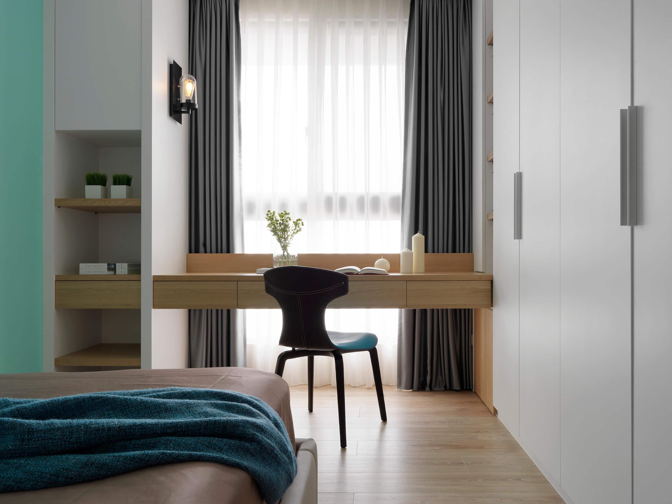 现代风三居室装修书桌设计图