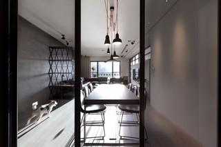 136㎡轻工业风公寓餐厅装修效果图