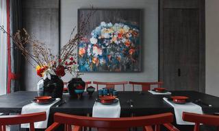 170㎡新中式风格餐厅装修效果图
