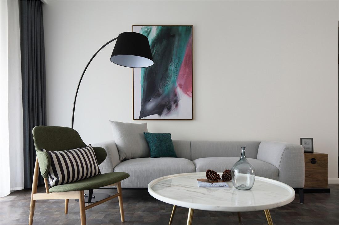 简约风格四居室沙发背景墙装修效果图