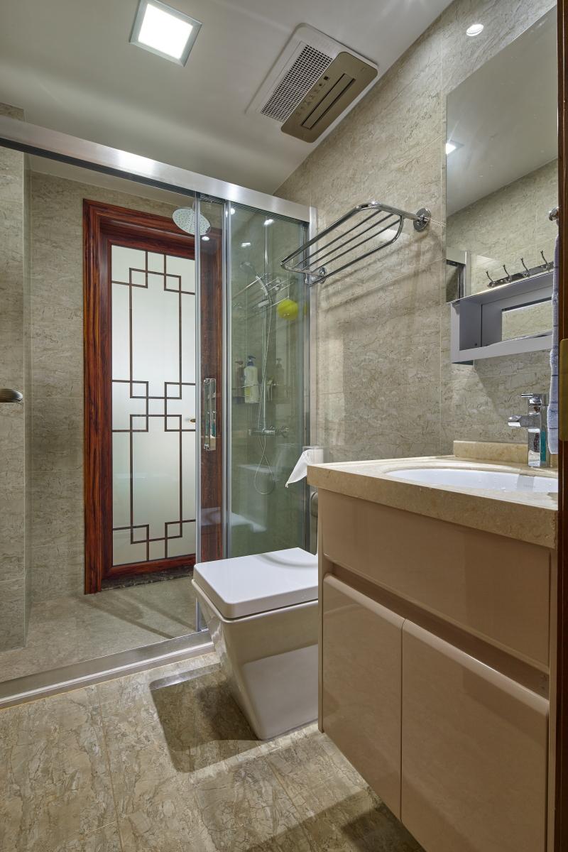 大户型中式风格卫生间装修效果图