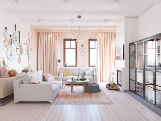 120平米三居室装修效果图