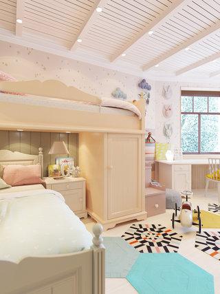 120平米三居室儿童房装修效果图