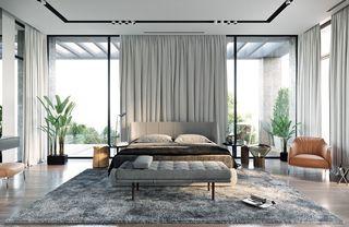 现代复式别墅卧室装修效果图