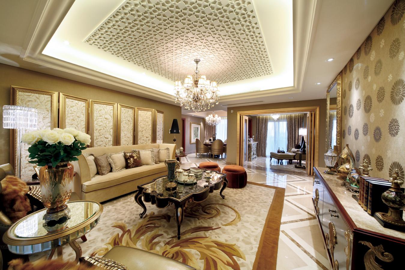 豪华新古典风格客厅装修效果图