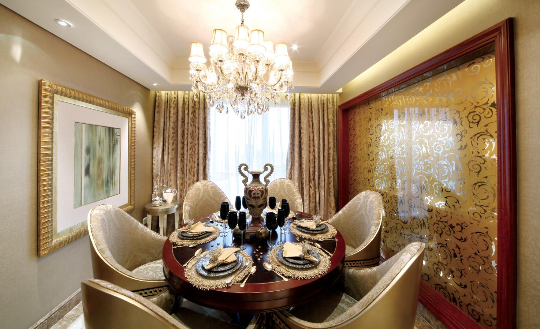 豪华新古典风格餐厅装修效果图