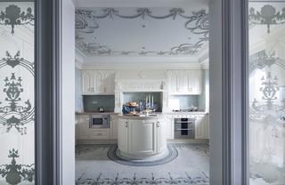 法式古典别墅厨房装修效果图