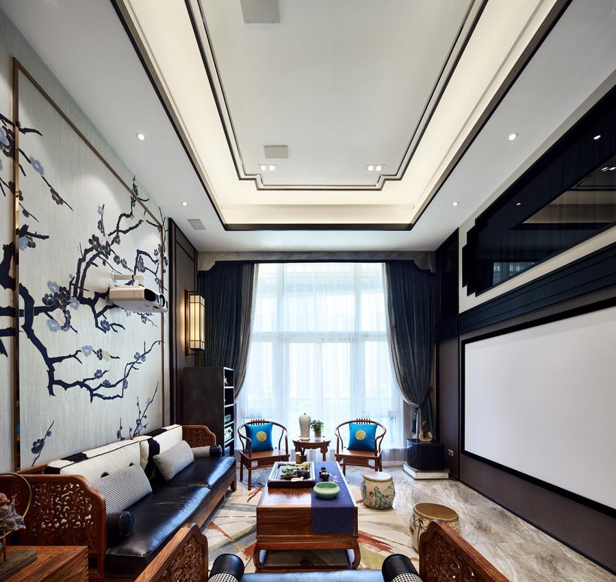200平米中式风格客厅装修效果图