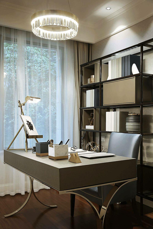 轻奢风格书房装修效果图