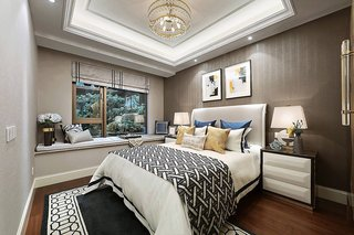 轻奢风格卧室装修效果图