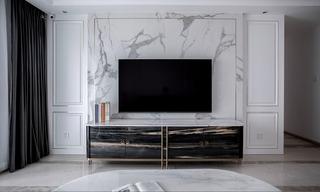 现代轻奢三居室电视背景墙装修效果图