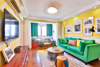 60平一居室公寓装修效果图