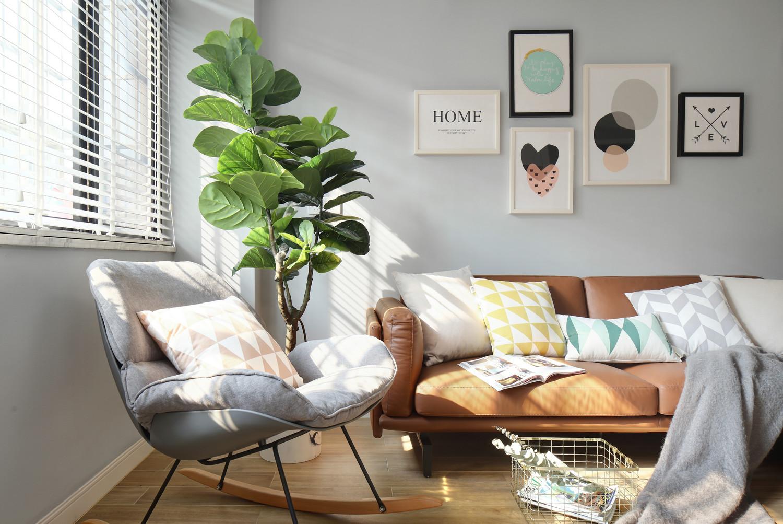 北欧风格二居沙发背景墙装修效果图