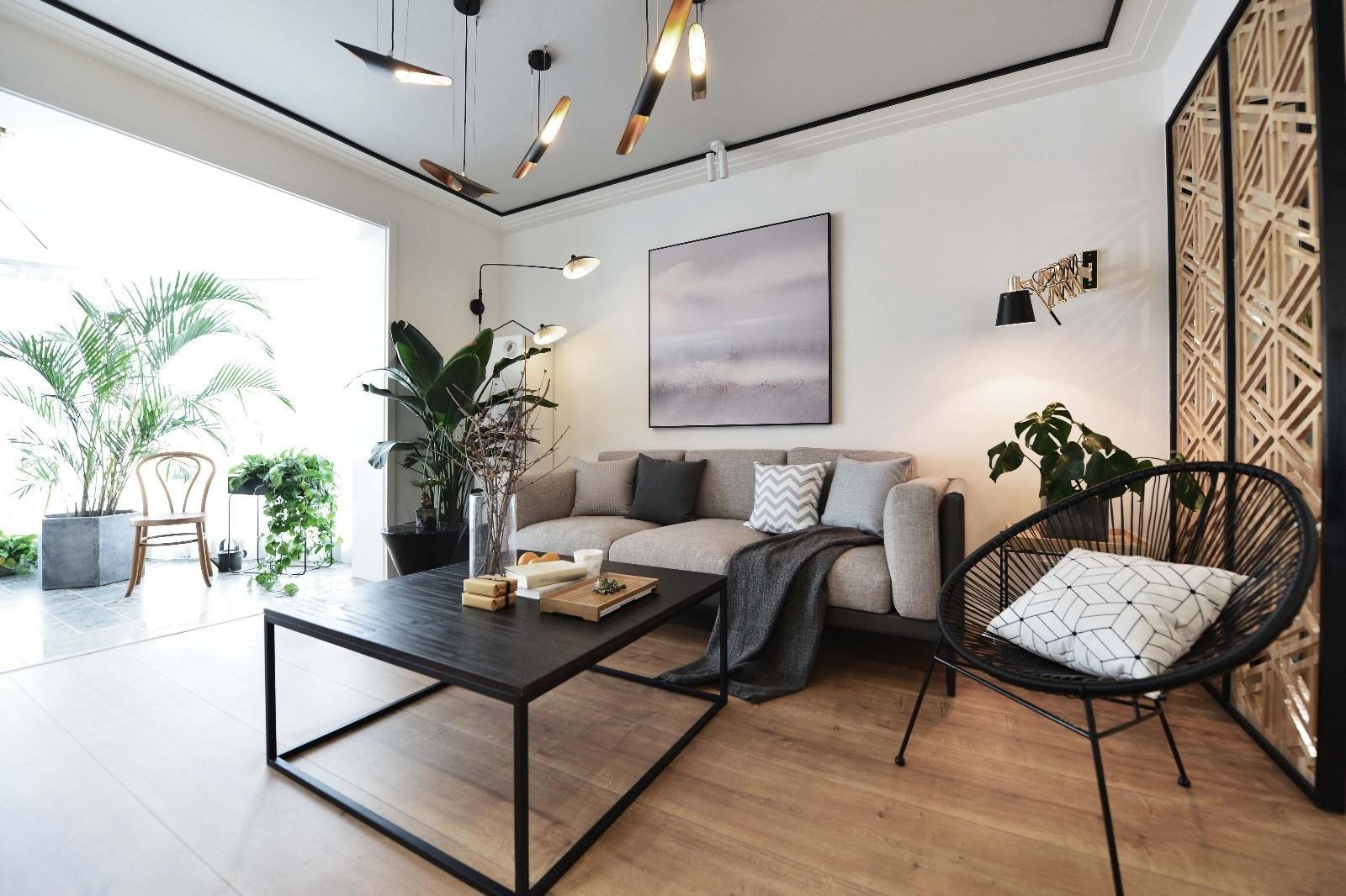169平米三居室装修效果图