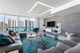 现代简约公寓客厅装修效果图