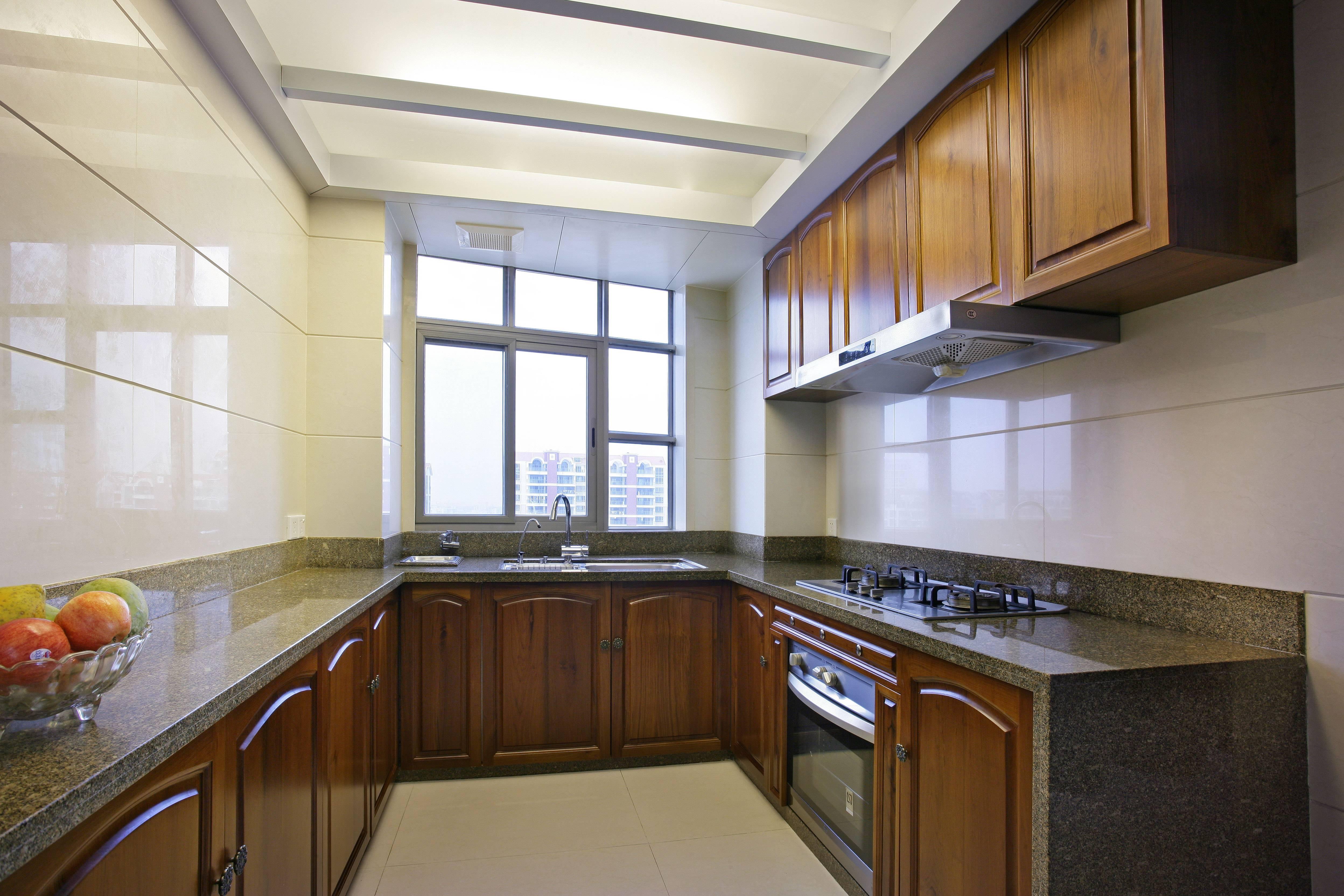 大户型中式厨房装修效果图