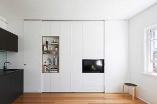 小户型简约公寓电视墙装修效果图