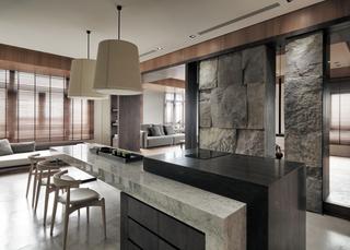 现代台式公寓餐厅装修效果图
