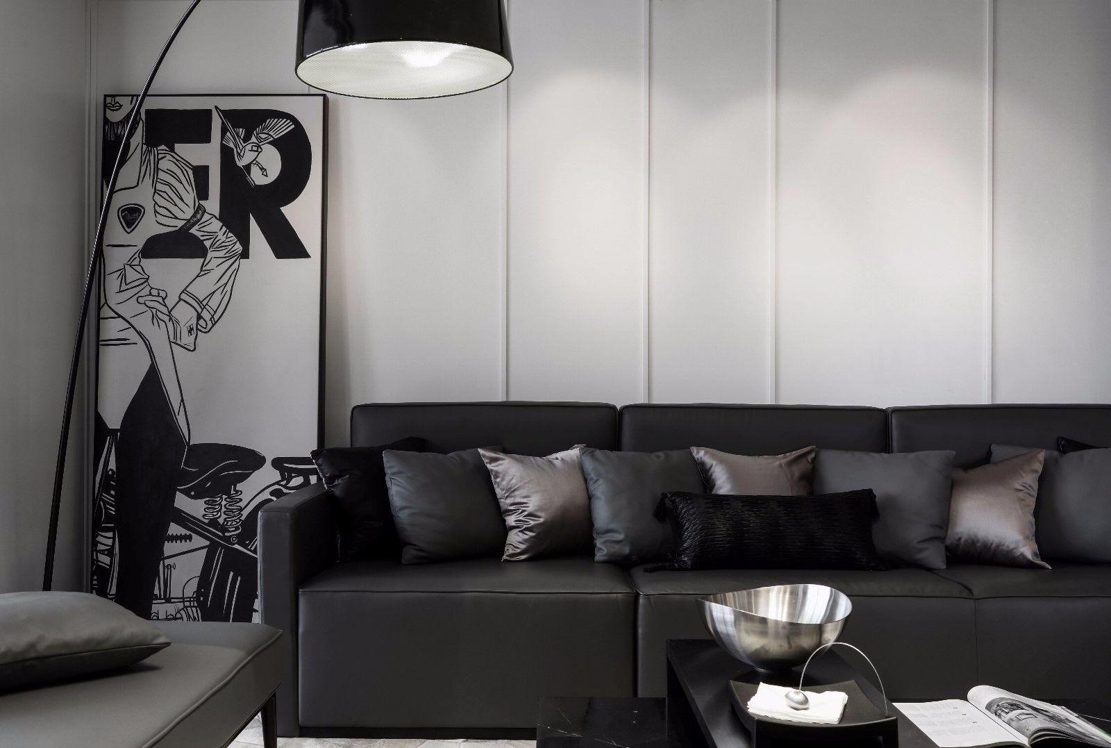 180㎡现代风格沙发墙装修效果图