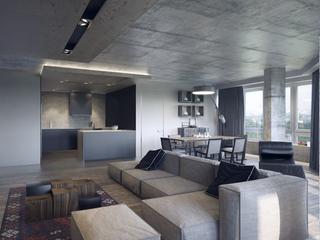 工业风格公寓装修效果图