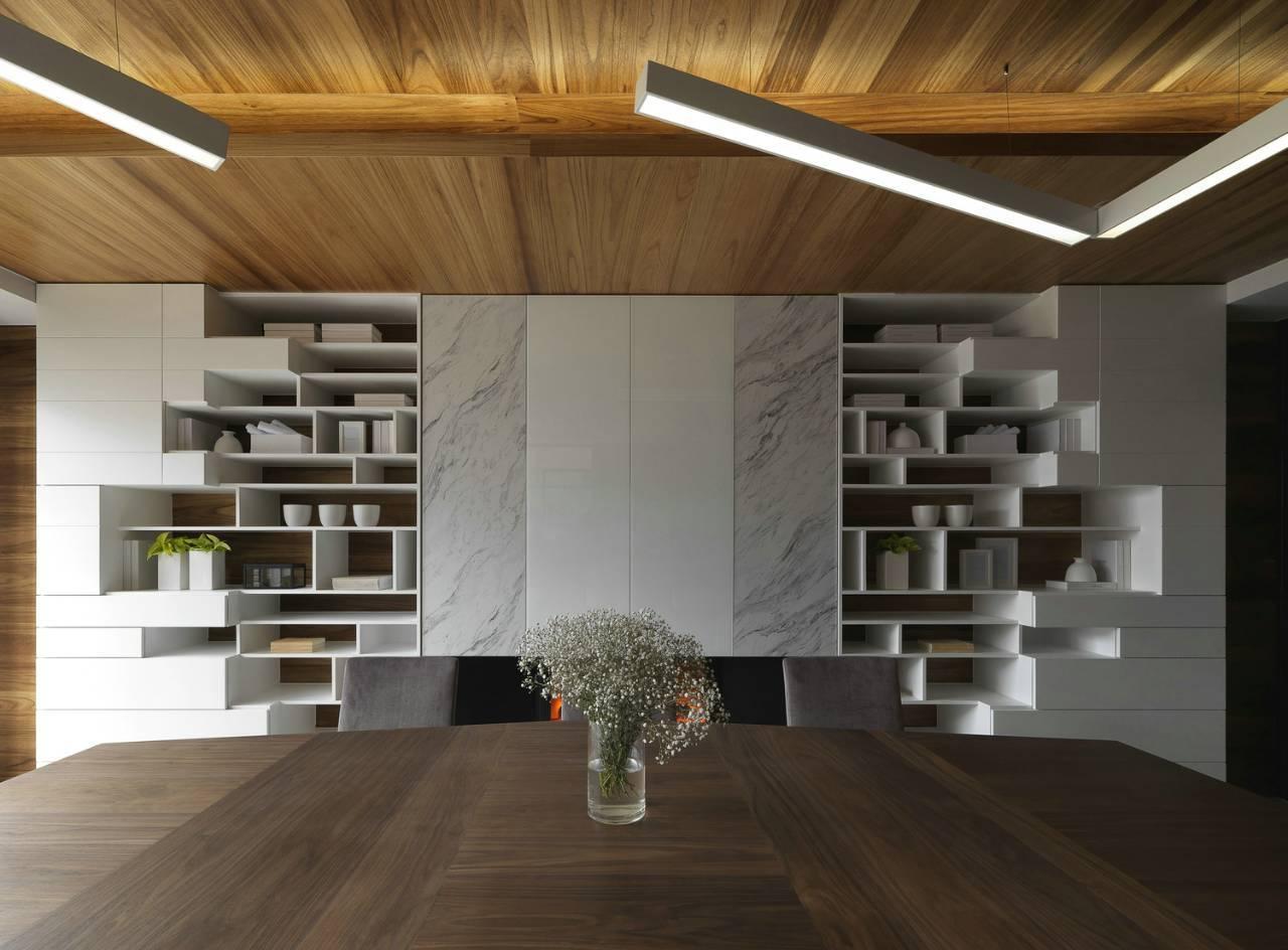 大户型现代风书架墙装修效果图