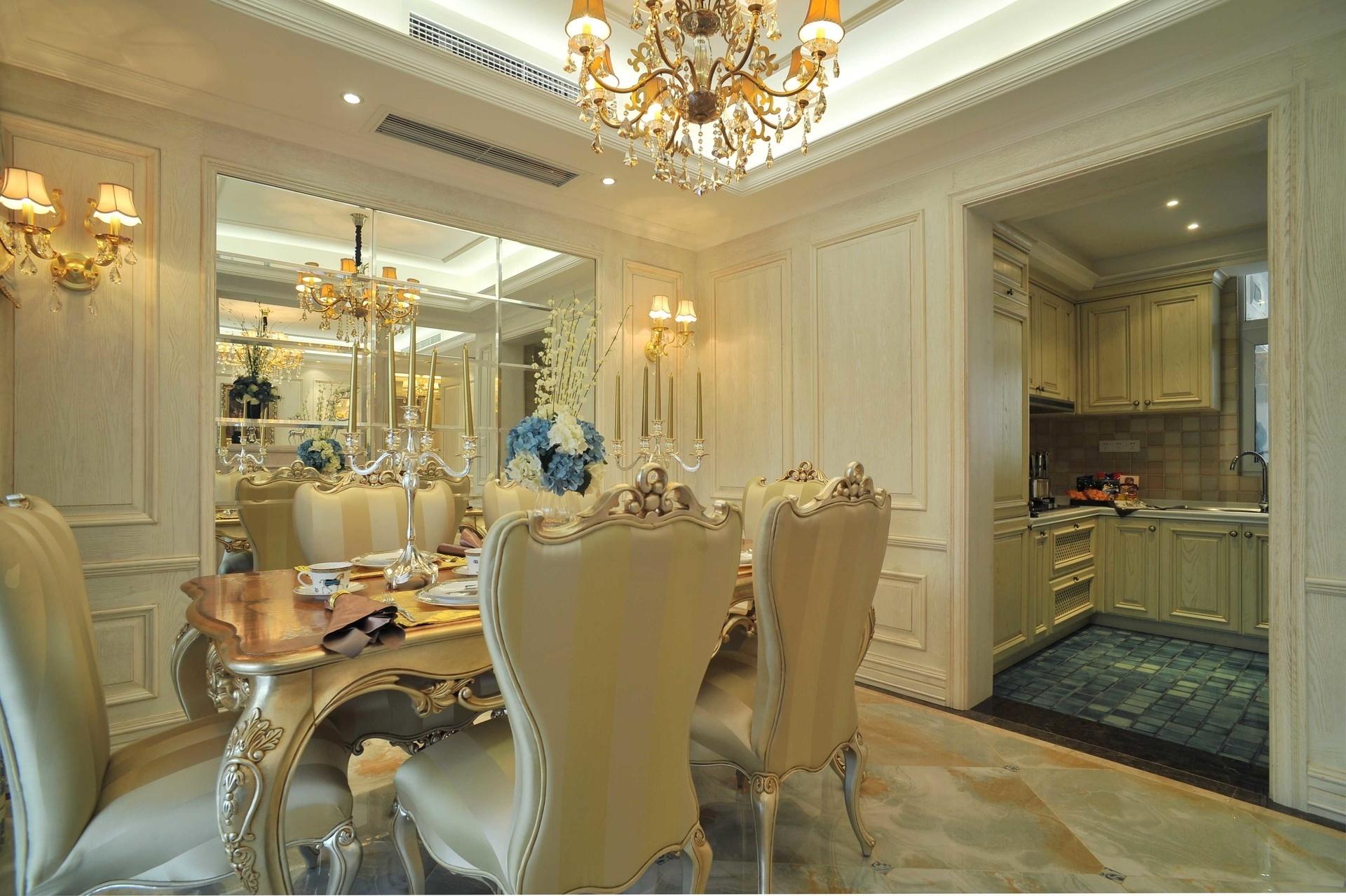欧式风格三居室餐厅装修效果图