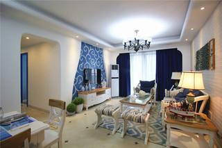 地中海风三居室客厅每日首存送20