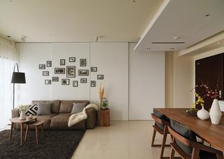 简约风格两居沙发背景墙装修效果图