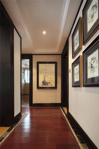 中式古典四居过道装修效果图
