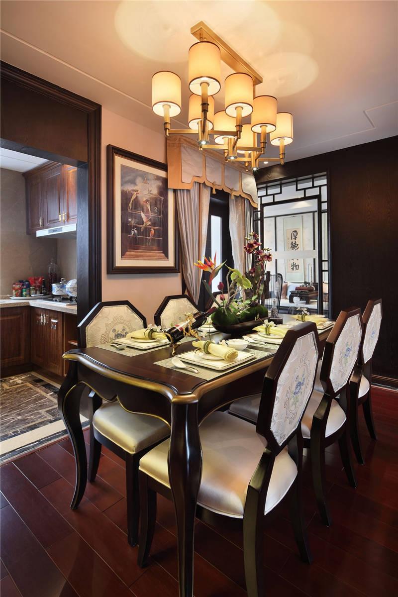 中式古典四居餐厅装修效果图