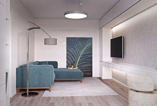 60㎡现代公寓客厅装修效果图