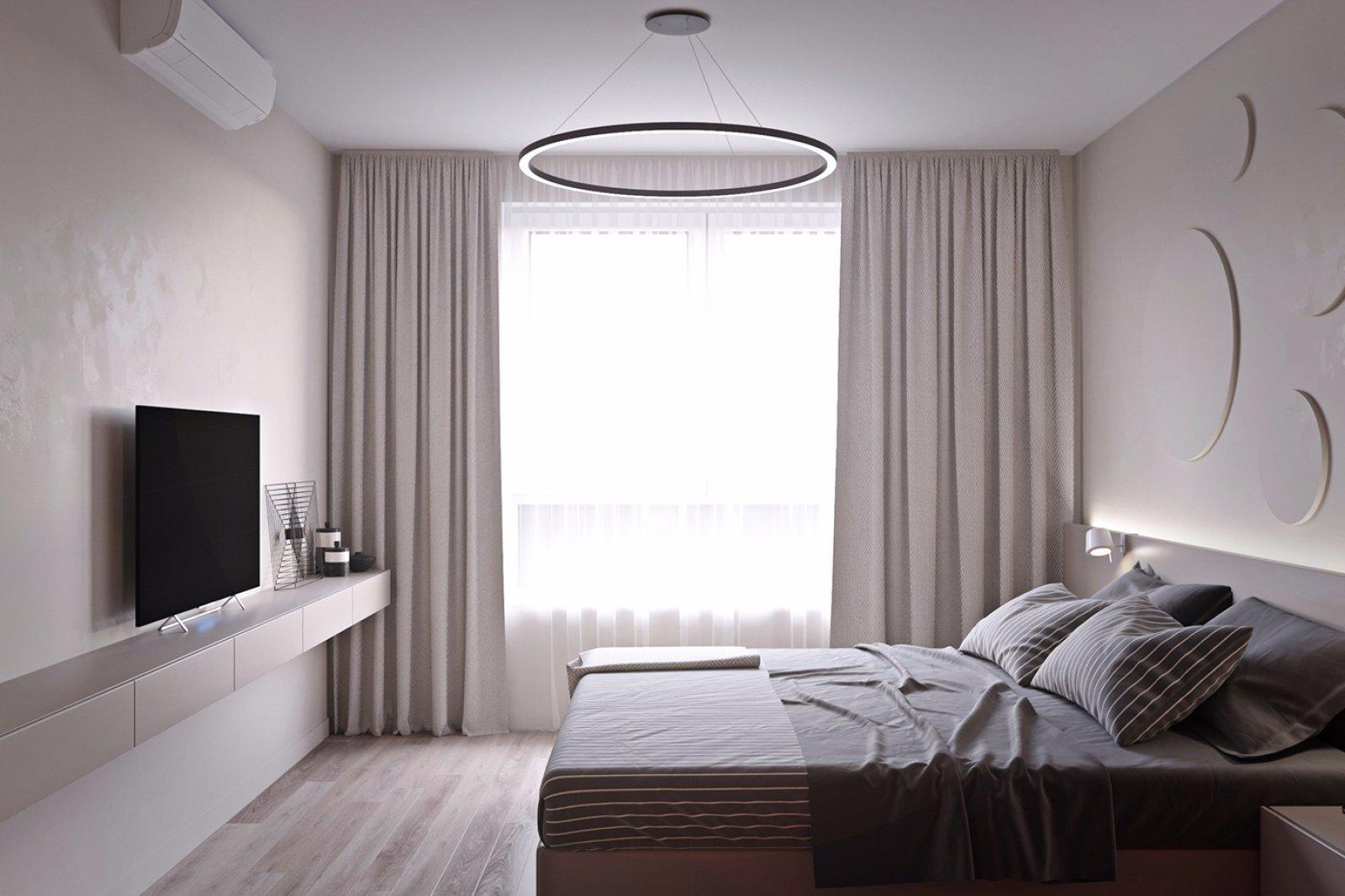 60㎡现代公寓卧室装修效果图