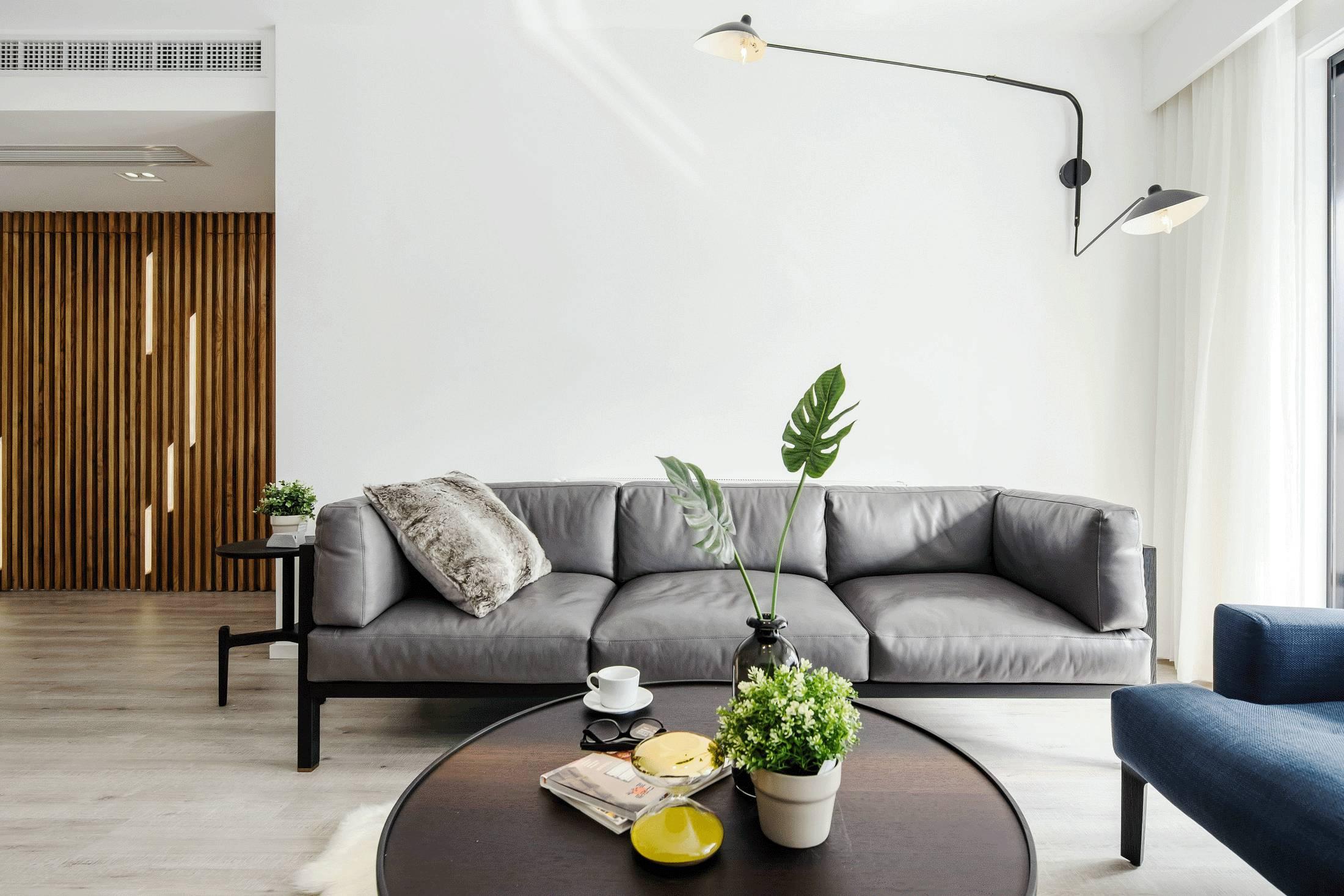 现代简约两居室沙发背景墙装修效果图