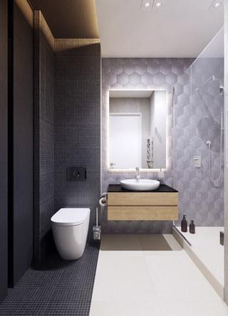 小户型公寓卫生间装修效果图