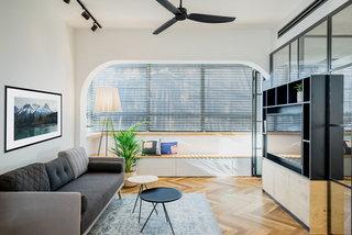 53㎡简约公寓客厅装修效果图