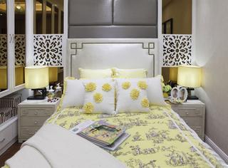120㎡新中式卧室装修效果图