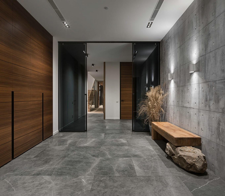 现代风格别墅门厅装修效果图